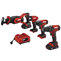 Deals on SKIL 4-Tool Combo Kit 20V Cordless Drill Driver CB739601