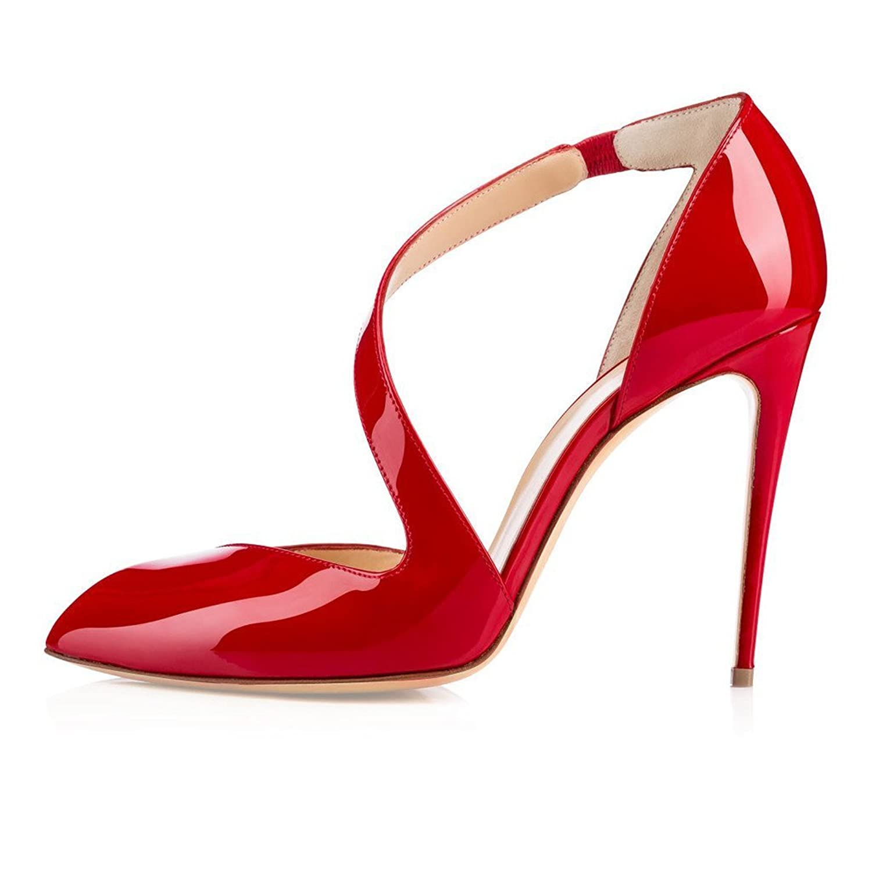 9375cc3a25b5 hot sale yBeauty Womens Stiletto Heels Sandals Mary Jane Slip On Pumps  Solid Closed Toe Pumps