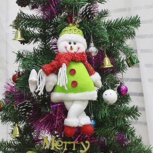 Christmas Tree Hanging Ornament Doll Gift Xmas Snowman Home