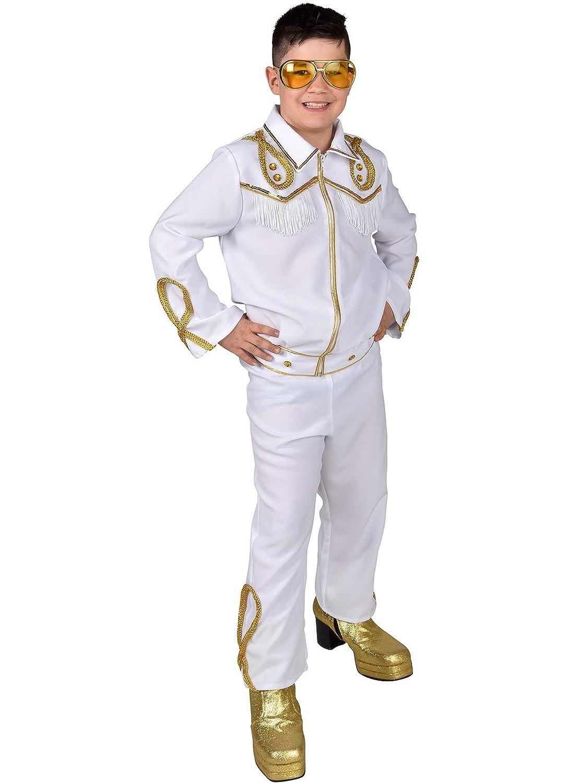 Magic Disfraz de Elvis/Rock Star de Lujo para niños de 5 a 7 años ...