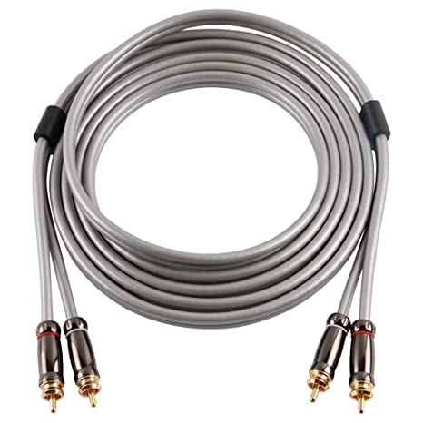 SKW Audiophiles Digital Stereo Audio Cable Coaxial Cable 2RCA Male to 2RCA Male Stereo Audio Y