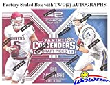 2018 Panini Contenders Draft Pick NFL Football EXCLUSIVE Factory Sealed Retail Box with TWO(2) AUTOGRAPHS! Look for Rookies & Autographs of Baker Mayfield, Saquon Barkley, Sam Donald & More! WOWZZER!