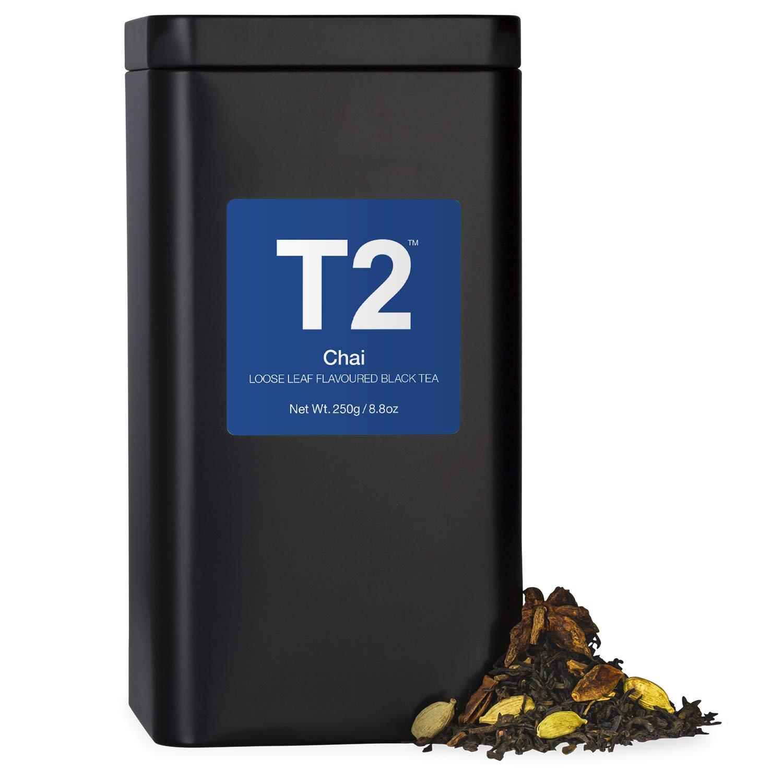 T2 Tea - Chai Tea, Loose Leaf Spiced Black Tea in Tea Caddy, 8.8oz (250g)