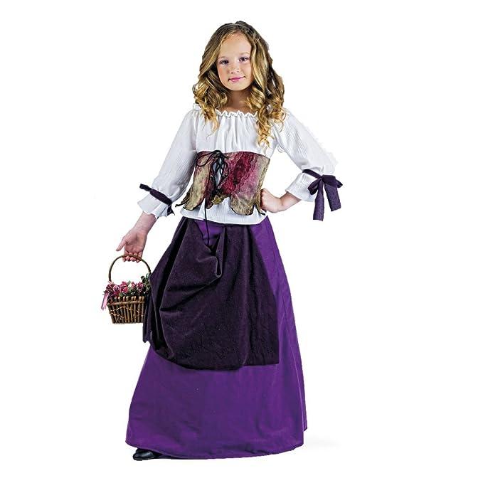 Limit Sport - Disfraz de tabernera medieval para niña (MI680 ...
