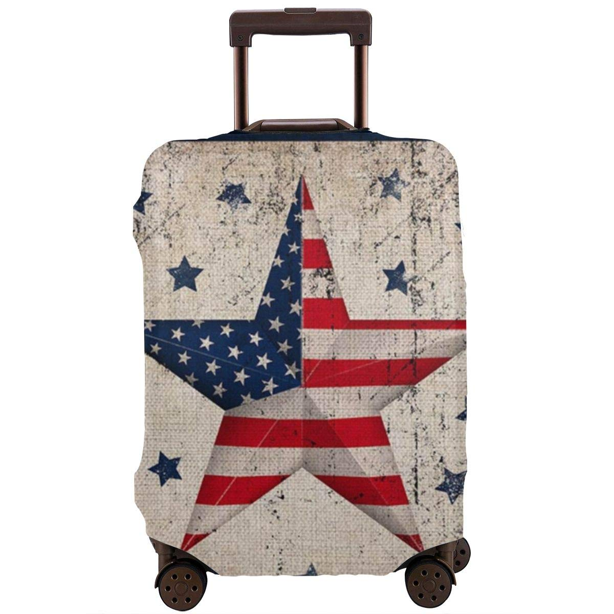 Luggage Cover Vintage Patriotic Star America Flag With Scattered Stars Protective Travel Trunk Case Elastic Luggage Suitcase Protector Cover