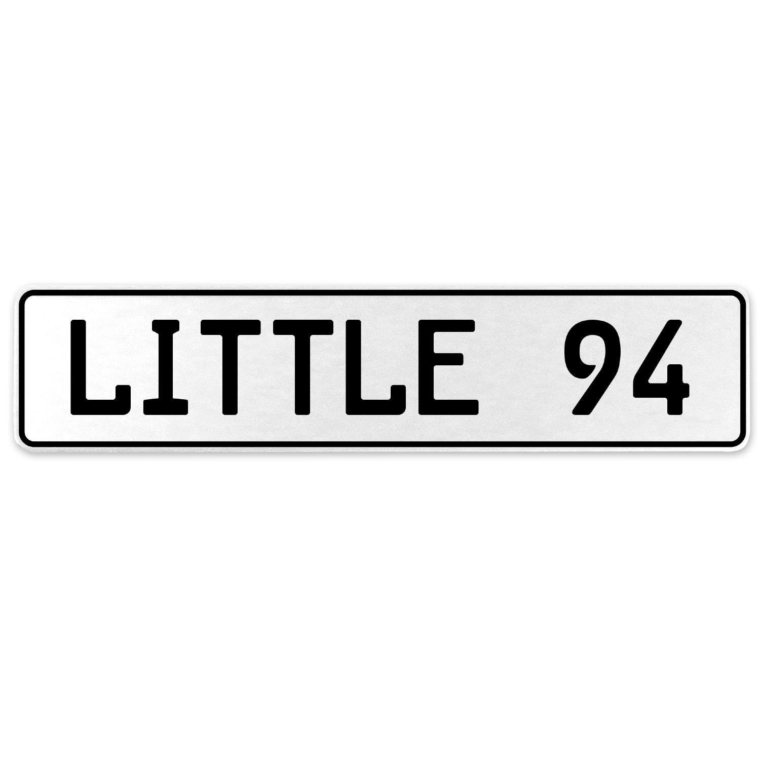 Vintage Parts 556374 Little 94 White Stamped Aluminum European License Plate