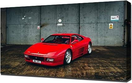 Amazon De Lilarama 1994 Ferrari 348 Gt Competizione V6 1080 Art Leinwandbild Kunstdrucke
