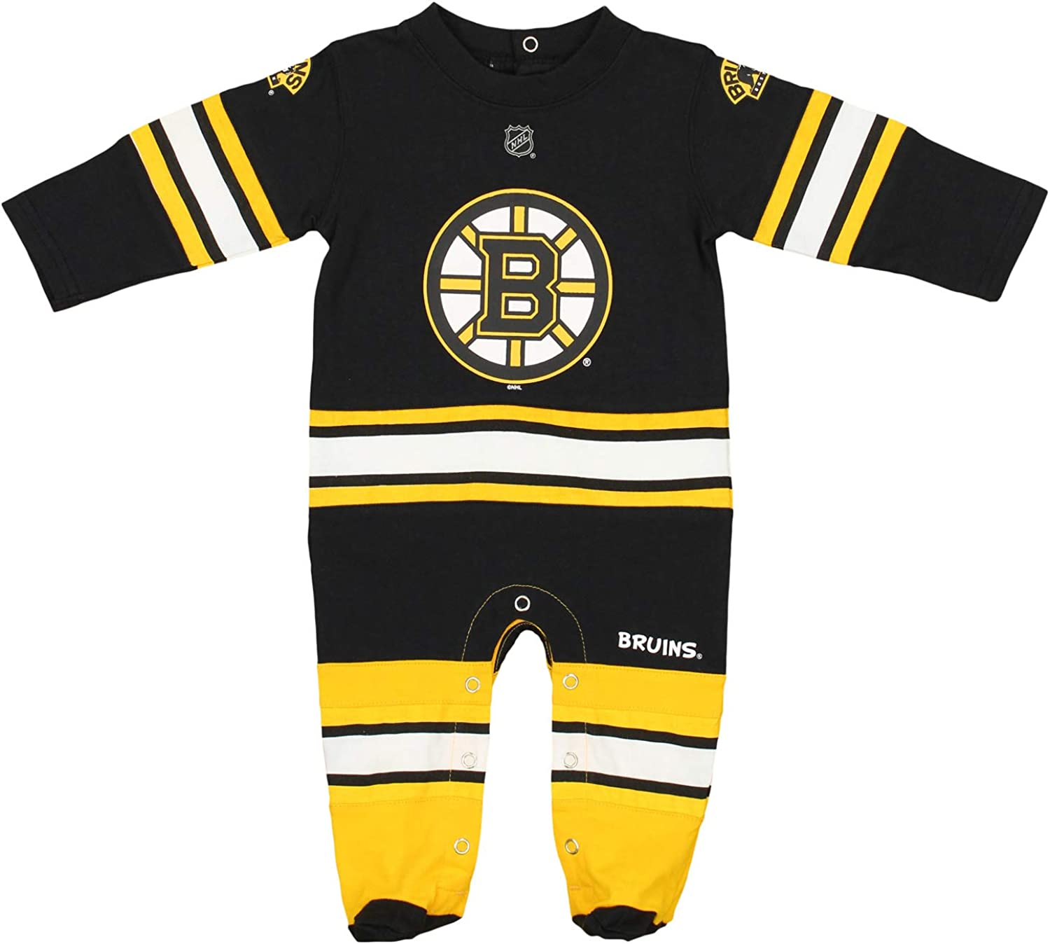 OuterStuff NHL Baby Boys Newborn Infant Long Sleeve Footed Coverall Team Options