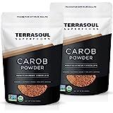 Terrasoul Superfoods Organic Carob Powder, 2 Lbs (2 Pack) - Cocoa Powder Alternative | High in Fiber