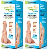 Novarnica Foot Pain Reliever Strong Fomula Spray - 2.19 OZ - 65 ml (Pack of 2)