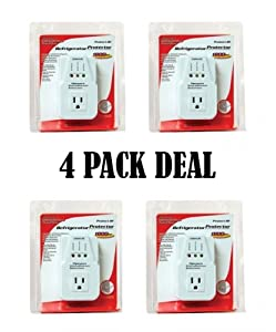 4 pcs Voltage Protector Brownout Surge Refrigerator 1800 Watts Appliance