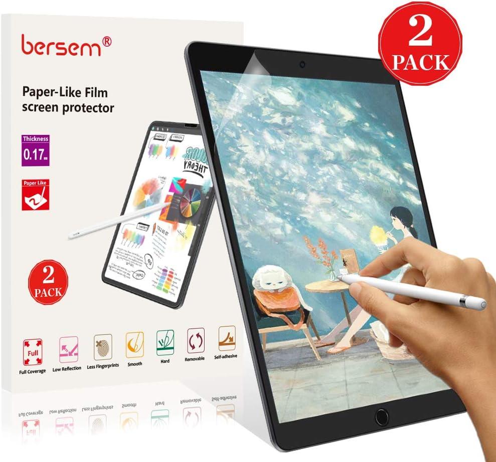 BERSEM [2 Pack] Paperlike iPad 9.7 Screen Protector, iPad Screen Protector 9.7 Matte PET Film for Drawing Anti-Glare and Paper Texture iPad Pro 9.7 Inch/iPad Air 2 / iPad Air Easy Installation Kit