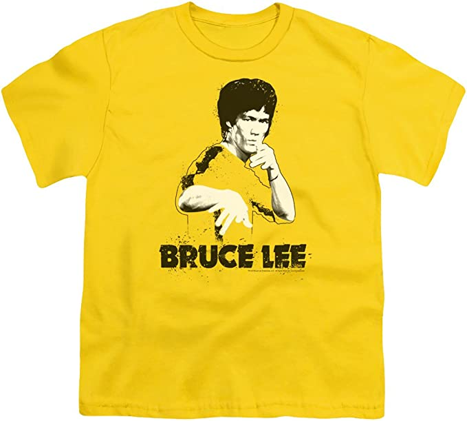 Bruce Lee KIDS 5-13Y T SHIRT Silhouette Martial Arts MMA Boxing Enter The Dragon