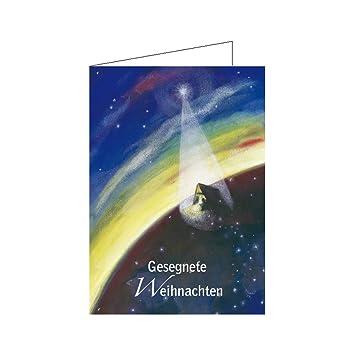 Religiöse Weihnachtskarten.Weihnachtskarten Religiöse Motive Din A6 10er Pack Christliche Grußkarte Klappkarte Mit Text Gesegnete Weihnachten