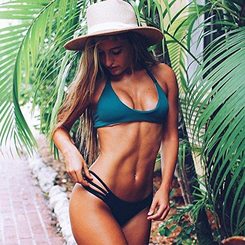 Covermason Mujer Tejido Bikini Ropa Interior Braguitas Negro