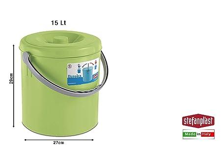 Stefanplast Papelera 15/L Verde