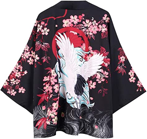 Hombres Yukata Haori Japonesa Kimono Hombres Chaqueta De Punto Samurai Kimono Hombre De La Chaqueta Kimono Camisa De La Ropa Traje Yukata Haori ZZBiao (Color : Style F, Size : XL): Amazon.es: