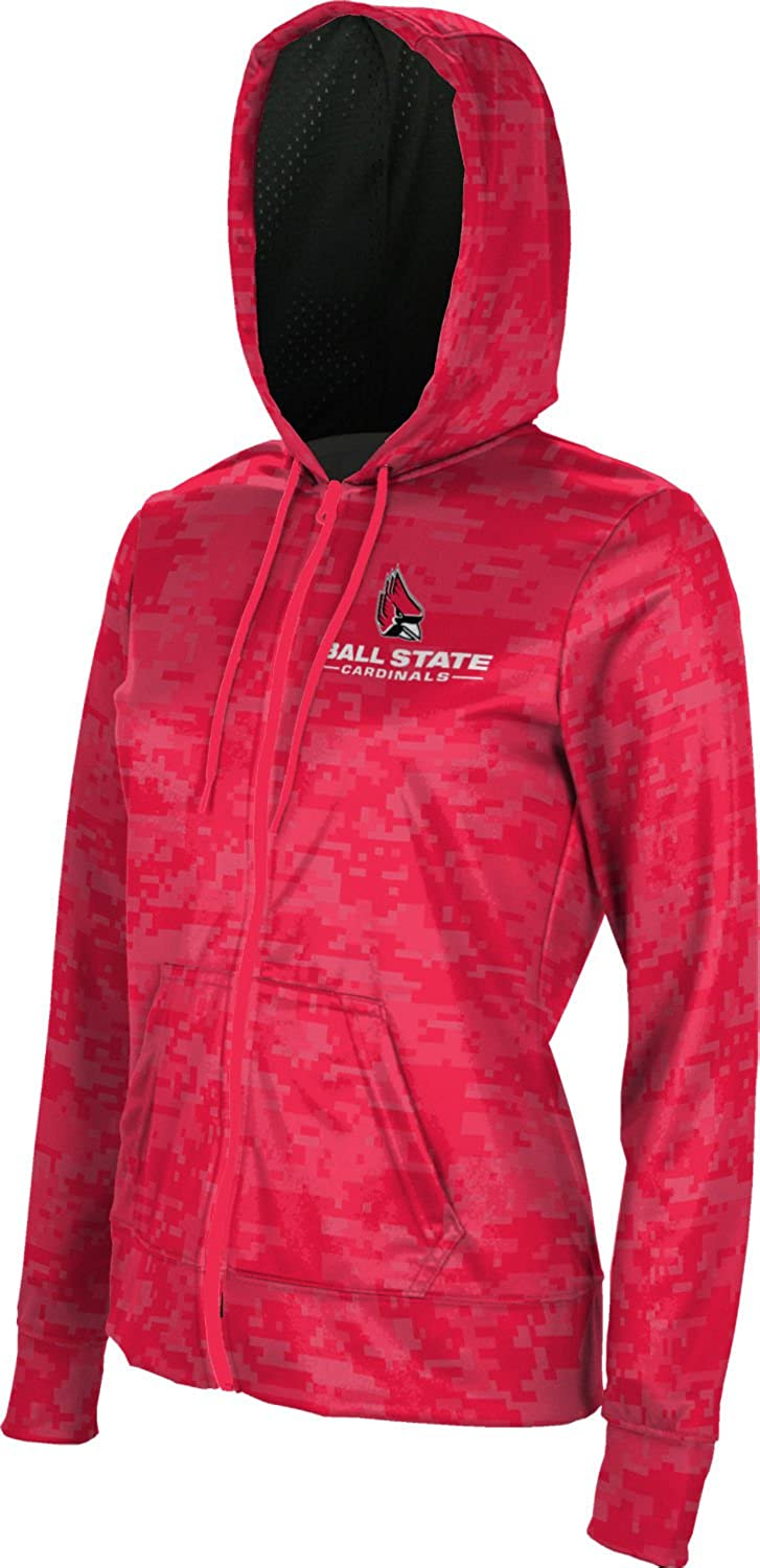 Ball State University Girls Zipper Hoodie School Spirit Sweatshirt Digital