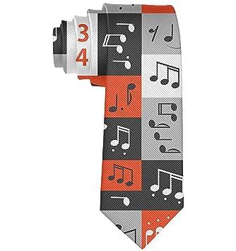 Notas de música gráfica para hombre Corbata Corbata Corbata de ...