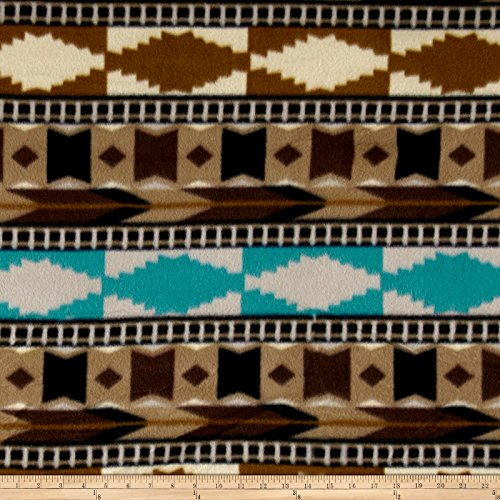 Newcastle Fabrics Polar Fleece Southwest Brown Fabric by The ()