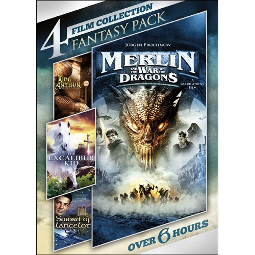 4-Film Collection: Fantasy Pack: Sword of Lancelot / Merlin and the War of the Dragons / King Arthur, The Young Warlord / The Excalibur Kid