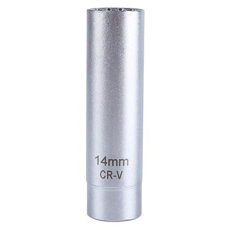 """14 mm Alta visibilidad 3/8 """"Bujía polaco Socket magnética herramienta para quitar"""