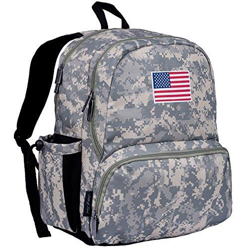 USA Flag 17 Inch Backpack - Digital Camo