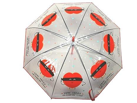 Paraguas Transparente Corazon Frase Dame Todos los Besos Que Tienes Regalo San Valentin Regalo ROMANTICO
