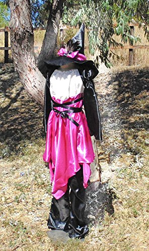 Teen Girls 10-14 Pink and Black Witch with