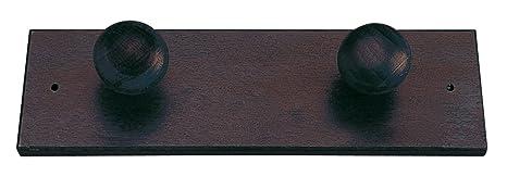Valdomo 132/21 Perchero de Pared, Madera, Wenge, 26 x 6 x ...
