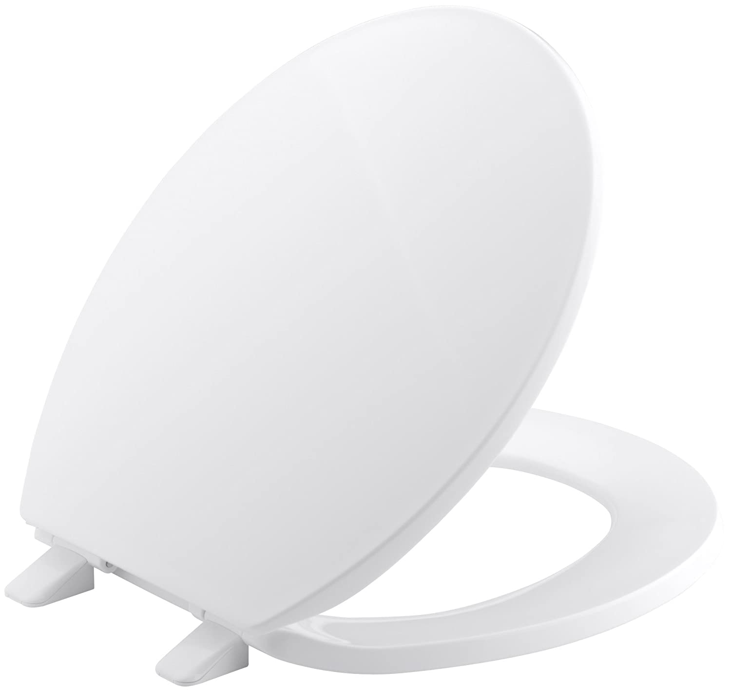 Groovy Kohler K 4775 0 Brevia With Quick Release Hinges Round Front Toilet Seat In White Caraccident5 Cool Chair Designs And Ideas Caraccident5Info