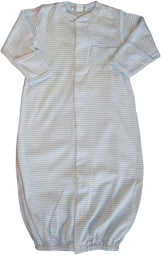 Kissy Kissy Baby-Boys Infant Dino Crew Stripe Convertible Gown