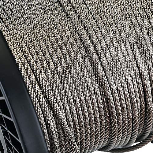 Zoostliss 100Ft Stainless Steel Aircraft Wire Rope 1/8'' for Deck Cable Railing Kit, 7x7 T316 Marin Grade by Zoostliss (Image #2)