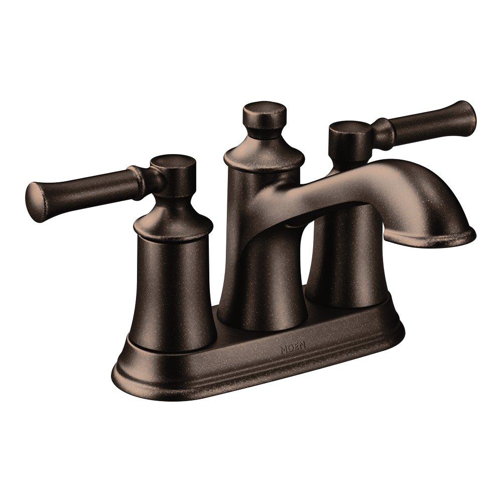 Moen Dartmoor Two-Handle Low Arc Bathroom Faucet, Oil Rubbed Bronze (6802ORB)