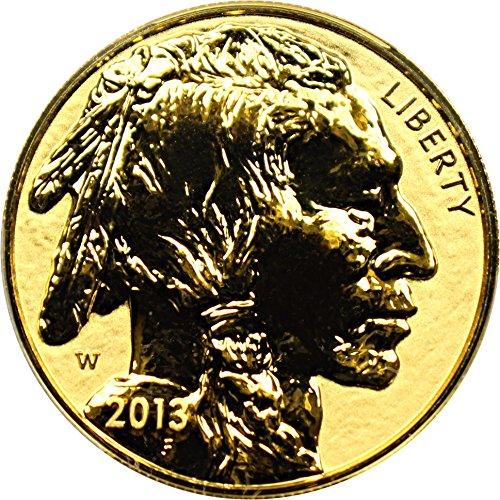 Buffalo Proof Gold - 2013 W $50 Gold Buffalo American Buffalo Reverse Proof Fifty Dollar PR69 PCGS DCAM