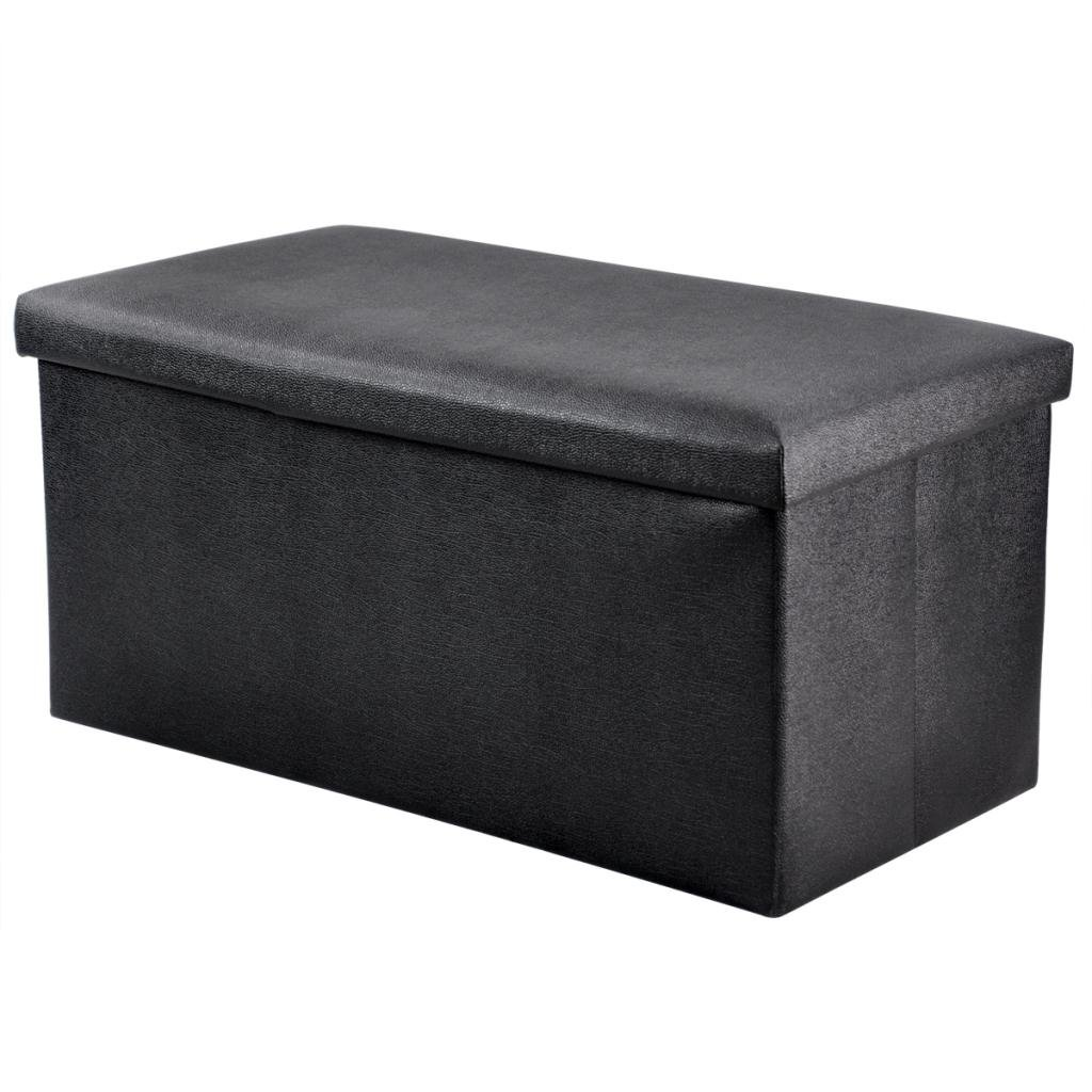 Popamazing Single/Double/Triple in Black/ Brown/Beige/Red Ottoman Faux - Faux Fur Ottoman Bed Storage Box Foot Stool Seat Decorative