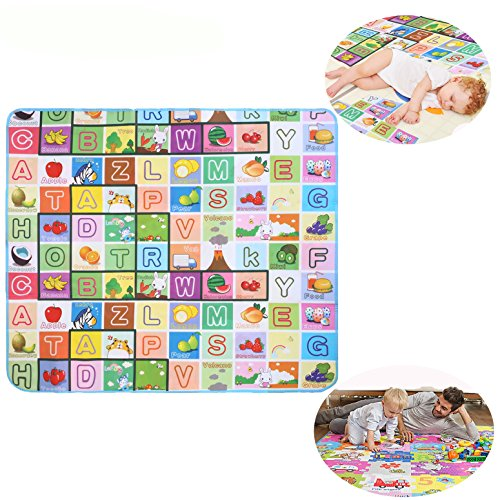 Baby Toddler Play Crawl Mat Kids Carpet Playmat Waterproof Foam Blanket Rug for Indoor /Outdoor - 180150CM