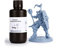 ELEGOO 3D Printer Resin LCD UV-Curing Resin 405nm Standard Photopolymer Resin for LCD 3D Printing Grey 500g