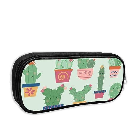 WJHONi Happy Cactus - Estuche personalizado con micro ladrillos para niños, niñas y adultos, para la escuela o el trabajo: Amazon.es: Hogar