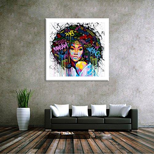 Dolland Unframed African American Wall Art for Livingroom Wall Decor, Original Designed Canvas Painting Art Decor