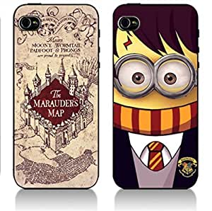 QTY:2pcs Harry Potter - black Hard Cover Case for iPhone 5 5s case