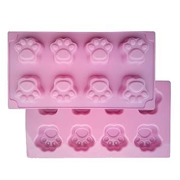 VolksRose molde de silicona para Chocolate, Gelatina Y Candy etc - colores aleatorios, 8 de pata de oso: Amazon.es: Hogar