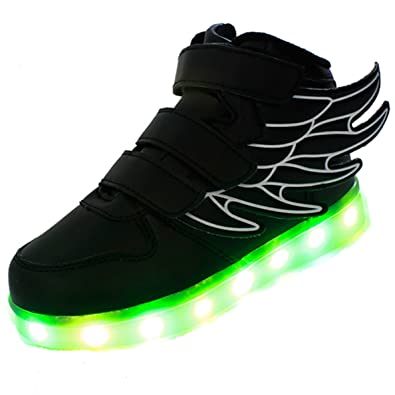 huge selection of 82d22 6f67d Ruiguan Kids Led Light Up Shoes Have Wings Sneakers -Boys and Girls   Celebration Days