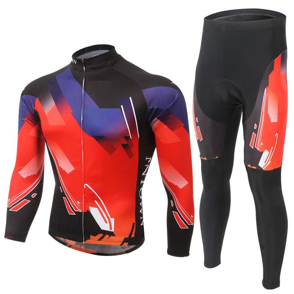 Spoz Men Cycling Bike Fashion Gel Padded Jersey Set