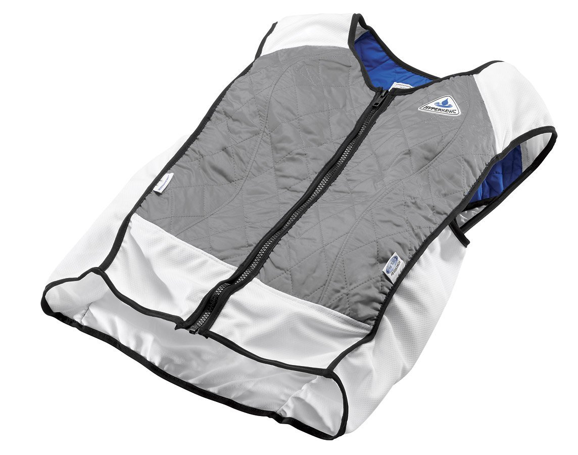 TechKewl Hybrid Cooling Vest, Silver, 3X-Large