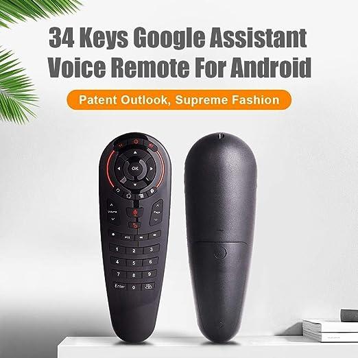 FOONEE G30 Control Remoto de Voz para TV, 2.4 GHz Mini Teclado inalámbrico Ratón Entrada de Voz Android TV Control Remoto Infrarrojos Inclinado Caja de TV con Android, Mini PC, Mac OS: