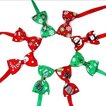 soundwinds - 8 Lazos para Mascotas, Collar de Navidad, Collar para ...