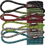 Friends Forever Extremely Durable Dog Rope Leash, Premium Quality Mountain Climbing Rope Lead, Strong, Sturdy Comfortable Leash Supports The Strongest Pulling Large Medium Dogs 6 feet, Black