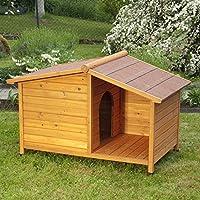 animalmarketonline Caseta para perros litera de madera para exterior Santoku L102x P64X H65cm