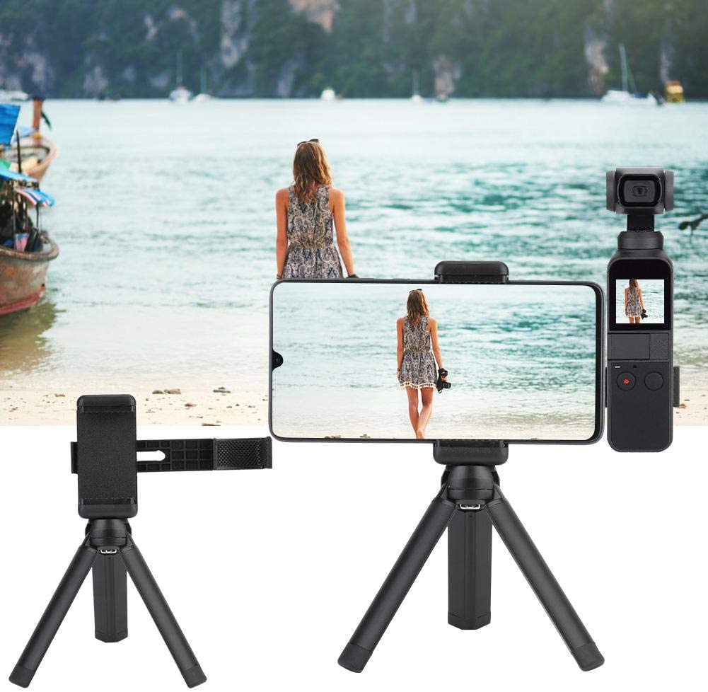 Qinlorgo Camera Tripod,Camera Tripod Head Metal Camera Tripod Head for OSMO Pocket with Mobile Phone Holder